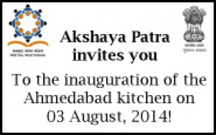Akshaya Patra to Inaugurate Ahmedabad Kitchen